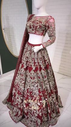 Wedding Dresses With Sleeves Red .Wedding Dresses With Sleeves Red Thai Wedding Dress, Fancy Wedding Dresses, Indian Wedding Gowns, Designer Party Wear Dresses, Pakistani Wedding Outfits, Indian Bridal Outfits, Indian Bridal Fashion, Pakistani Wedding Dresses, Red Wedding