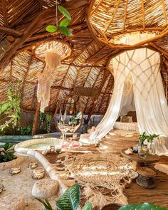 Get in touch with nature at Azulik Tulum, a luxury eco-resort for those willing to experience a distraction-free vacation. Organic Architecture, Beautiful Architecture, Bamboo Architecture, Architecture Diagrams, Architecture Portfolio, Places To Travel, Places To Go, Travel Destinations, Architecture Organique