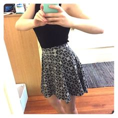 Black and white circle skirt Super cute skater skirt, never worn! Soft and stretchy material. Tag says medium but it definitely fits like a small. SO Skirts Circle & Skater