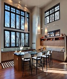 If this is our kitchen, I might actually attempt to cook. Love the light!