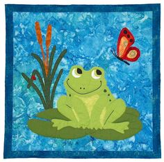 Francois Frog Quilt Pattern SCN-2031 (advanced beginner, wall hanging)