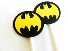 Batman Birthday party Cupcake toppers 12 count Black by JazzyBug, $8.00