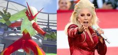 Lady Gaga Looked Like APokémon At The Super Bowl