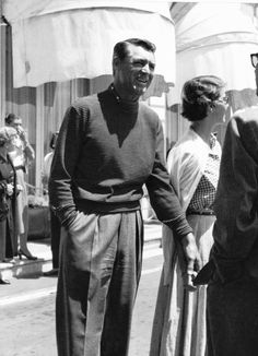 Cary Grant and his wife, actress and writer Betsy Drake, during the filming of Hitchcock's 'To Catch A Thief', 1955.