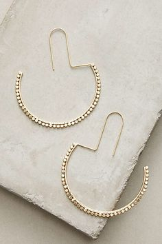 Anthropologie half moon hoops