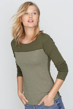Buy Stripe Scoop Neck Top from the Next UK online shop