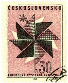 Czechoslovakia postage stamp: c. 1963 - designed & engraved by Jiří Švengsbír?