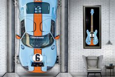 The Supercar Guitar Types Of Guitar, Prs Guitar, Guitar Collection, Ford Gt40, Guitar Building, Cool Guitar, Hot Cars, Dream Cars, Super Cars