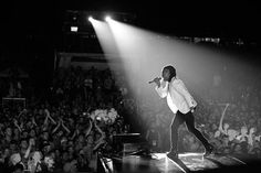 A very cool picture of Michael Tait at CreationFest NE 2014.