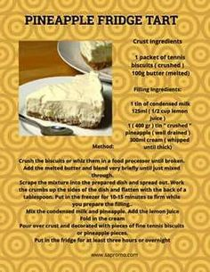 Crushed Pineapple, Middle Eastern Recipes, Puddings, Popular Pins, Scones, Tarts, Biscuits, Deserts, Lemon