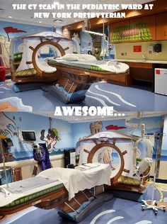 This would be a cool design idea for a childrens' hospital because it would make the kids less scared while getting an x-ray.