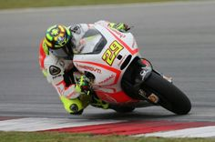 Andrea Iannone is Spies' team mate for 2013 (despite different branding). Fluro yellow looks a lot better with the Energy TI Pramac than it did with the factory and much more red #46 last year. That looked like a toy. I don't understand Iannone as a rider some weeks he seems unstoppable others unstartable.