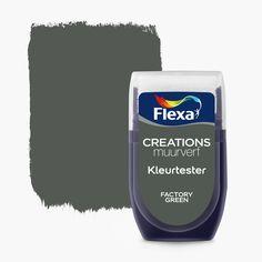 Flexa Creations muurverf kleurtester Lively Kraft 30 ml kopen? Dandy, Wall Colors, Colours, Farmhouse Layout, Green Mat, Interior Design Living Room, Color Inspiration, Bedroom Inspiration, Colorful Interiors