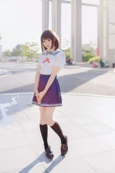 School Uniform Fashion, Japanese School Uniform, School Uniform Girls, Girls Uniforms, Cute School Uniforms, Cute Asian Girls, Cute Girls, Kawai Japan, School Girl Japan
