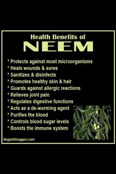I use my Neem oil for so many things including these... Neem Benefits