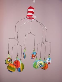 Dr. Seuss Nursery - DIY crib mobile