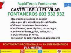 Fontaneros Castellbell I EL Vilar 603 932 932
