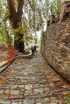 Makrinitsa village, Pelion mountain by brendaq Greece Vacation, Greece Travel, Myconos, Places In Greece, Thessaloniki, Greek Islands, Belle Photo, Porches, Places To See