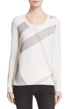 Burberry Brit Check Pattern Wool & Cashmere Sweater available at #Nordstrom