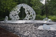 Each year, the International Garden Festival at the Jardins de Métis sees the arrival of wildly inventive landscape works in Grand-Métis, Quebec. Wood Pieces, Thought Provoking, Sculptures, Landscape, Amazing, Day, Gardens, English, Google Search
