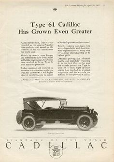 Cadillac, Type 61,1923