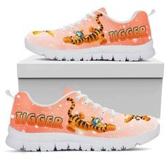 Think of all the bouncing that could be done in these shoes! Tigger And Pooh, Winnie The Pooh Friends, Pooh Bear, Disney Home, Disney Art, Disney Outfits, Disney Clothes, Marley And Me, Flower Shoes