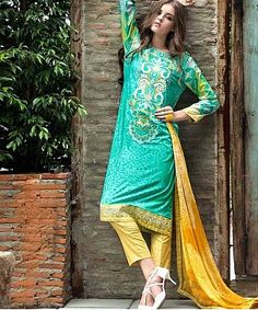 Embroidered Designer Cotton Suit, Cotton Salwar Suit, Online Shopping, Designer Long Suit, Buy Embroidered Designer Cotton Suit, Cotton Salwar Suit, Online Shopping, De - iStYle99.com
