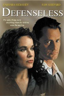 1991.  Defenseless.  Really good thriller with Barbara Hershey as a lawyer and Sam Shepard as a cop.   Can't tell you too much, it would spoil it!
