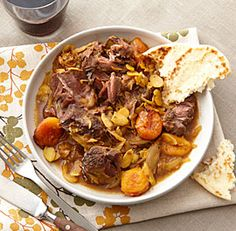 Curried Lamb with Apricots and Almonds  in a slow cooker.