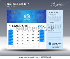 Set Desk Calendar  Template Design Yellow Cover Set Of