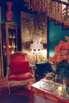 Allie, this looks like the chair in my living room! Dim Lighting, Deco Design, Bohemian Decor, Boho, Bohemian Room, Architecture, My Dream Home, Interior And Exterior, Modern Exterior