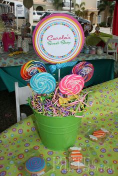 Partylicious: Birthday: {Carola's Sweet Shop} #candyland #candy