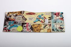 Avengers Comic Portemonnaie vegan upcycling wallet von Hunkepunk
