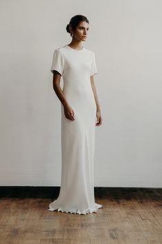 Hadley dress in heavy crepe | Lena Medoyeff Studio | Bridal | Portland, Oregon