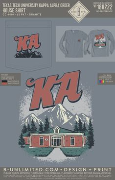 Kappa Alpha Order House Shirt PR | Fraternity Event | Greek Event #kappaalphaorder #kappaalpha #theorder #ka Kappa Alpha Order, Texas Tech University, Fraternity, Artwork Prints, Greek, House Design, Shirts, Dress Shirts, Architecture Design