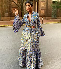 Top Celebrity Looks From 2019 Essence Festival: Zendaya In Salvatore Ferragamo, Michelle Obama In Sergio Hudson, Michelle Williams In Alpana Neeraj, and More! African Attire, African Wear, African Women, African Lace Dresses, Latest African Fashion Dresses, Tamron Hall, African Traditional Dresses, Ankara Dress, Black Girl Fashion