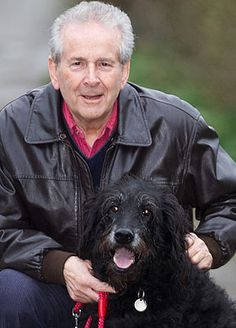 The perfect pet ... Monty with Maurice