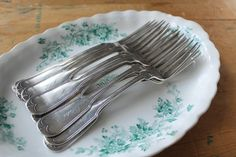 Antique Family Silver Dinner Forks Fitch Family by tippleandsnack