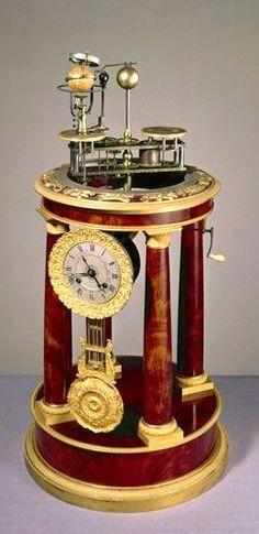 Raingo Frères orrery clock, French, 1830-1832.