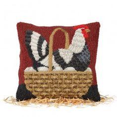 Chicken In Basket Pillow | Sturbridge Yankee Workshop