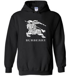 awesome Burberry logo Unisex hoodie