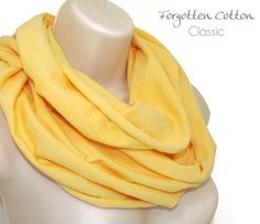 Shoply.com -Infinity Scarf Light Yellow. Only $20.00