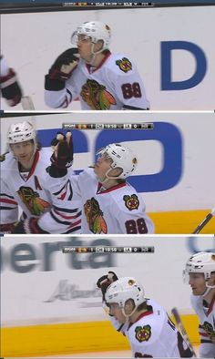 Patrick Kane saluting his late grandpa the day he passed away. Literally cried my eyes out