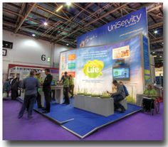 The stand we buit for UniServity at BETT 2013