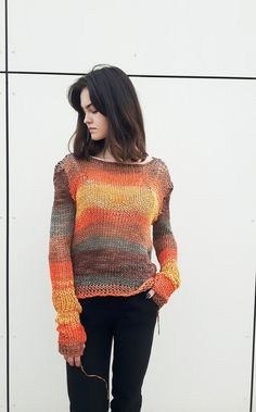 aa79fa4ec Hand Dyed Simple Knit Sweater