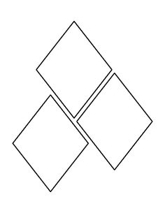 Inch Diamond Pattern Use The Printable Outline For Crafts