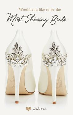 Be the Most Shining Bride on Your Wedding Day! #weddingshoes by JJsHouse