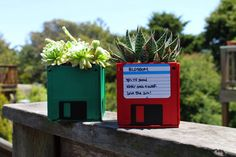 Put your retired floppy disks to good use - as a DIY planter!