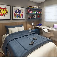 9 Things You Should Consider When Buying Kids Bedroom Furniture Sets - Zoom Room Design Home Bedroom, Kids Bedroom, Bedroom Decor, Superhero Room, Teenage Room, New Room, Interior Design, Home Decor, Creative Decor