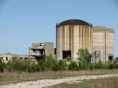 The now gone Marble Hill Nuclear Power Plant near Madison, IN